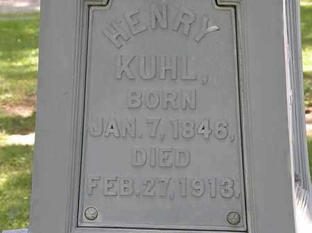 KUHL, HENRY - Erie County, Ohio | HENRY KUHL - Ohio Gravestone Photos