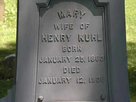 KUHL, MARY - Erie County, Ohio | MARY KUHL - Ohio Gravestone Photos