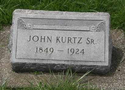 KURTZ, JOHN SR. - Erie County, Ohio | JOHN SR. KURTZ - Ohio Gravestone Photos