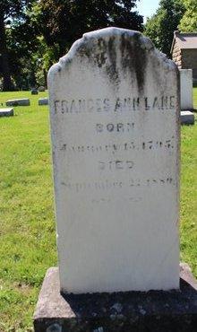 ANN LANE, FRANCES - Erie County, Ohio | FRANCES ANN LANE - Ohio Gravestone Photos