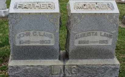 LANG, JOHN C. - Erie County, Ohio | JOHN C. LANG - Ohio Gravestone Photos