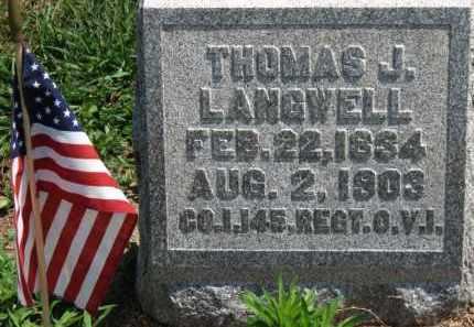 LANGWELL, THOMAS J. - Erie County, Ohio | THOMAS J. LANGWELL - Ohio Gravestone Photos
