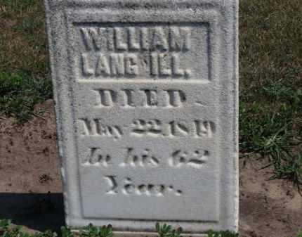 LANGWELL, WILLIAM - Erie County, Ohio   WILLIAM LANGWELL - Ohio Gravestone Photos