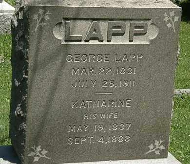 LAPP, GEORGE - Erie County, Ohio | GEORGE LAPP - Ohio Gravestone Photos
