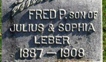 LEBER, FRED P. - Erie County, Ohio | FRED P. LEBER - Ohio Gravestone Photos