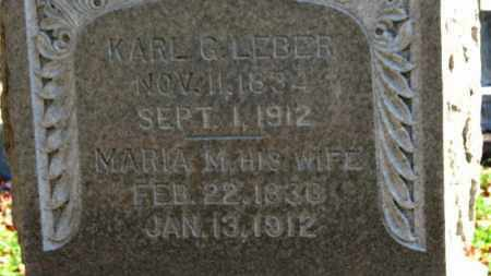 LEBER, KARL G. - Erie County, Ohio | KARL G. LEBER - Ohio Gravestone Photos