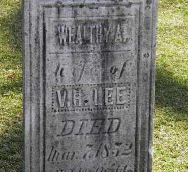 LEE, WEALTHY A. - Erie County, Ohio | WEALTHY A. LEE - Ohio Gravestone Photos