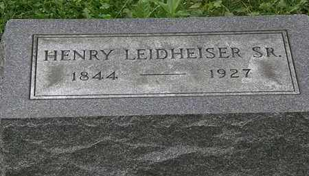 LEIDHEISER, HENRY - Erie County, Ohio | HENRY LEIDHEISER - Ohio Gravestone Photos