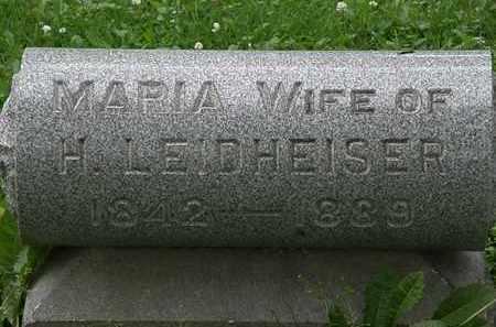 LEIDHEISER, H. - Erie County, Ohio | H. LEIDHEISER - Ohio Gravestone Photos