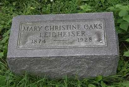 OAKS LEIDHEISER, MARY CHRISTINE - Erie County, Ohio | MARY CHRISTINE OAKS LEIDHEISER - Ohio Gravestone Photos