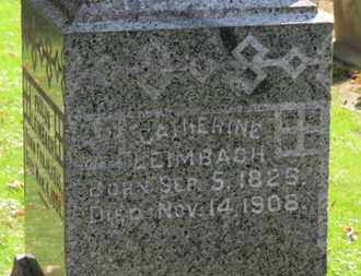 LEIMBACH, CATHERINE - Erie County, Ohio | CATHERINE LEIMBACH - Ohio Gravestone Photos