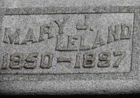 LELAND, MARY J. - Erie County, Ohio | MARY J. LELAND - Ohio Gravestone Photos