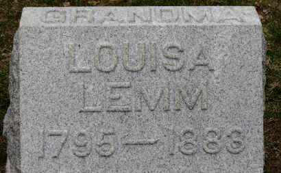 LEMM, LOUISA - Erie County, Ohio | LOUISA LEMM - Ohio Gravestone Photos