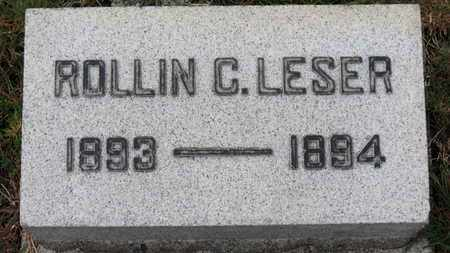 LESER, ROLLIN C. - Erie County, Ohio | ROLLIN C. LESER - Ohio Gravestone Photos