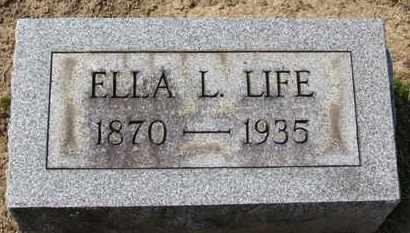 LIFE, ELLA L. - Erie County, Ohio | ELLA L. LIFE - Ohio Gravestone Photos