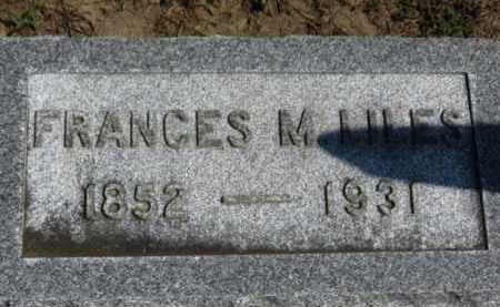 LILES, FRANCES M. - Erie County, Ohio | FRANCES M. LILES - Ohio Gravestone Photos