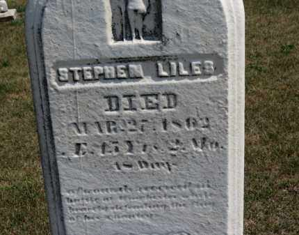 LILES, STEPHEN - Erie County, Ohio | STEPHEN LILES - Ohio Gravestone Photos