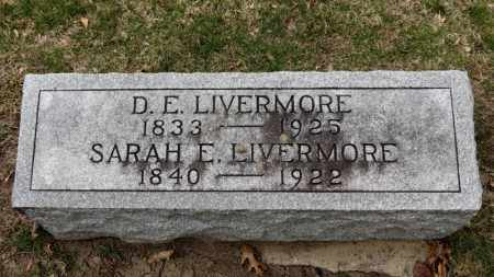 LIVERMORE, SARAH E. - Erie County, Ohio | SARAH E. LIVERMORE - Ohio Gravestone Photos