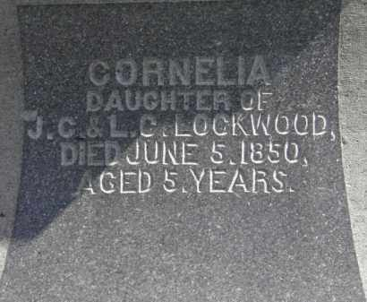 LOCKWOOD, CORNELIA - Erie County, Ohio | CORNELIA LOCKWOOD - Ohio Gravestone Photos