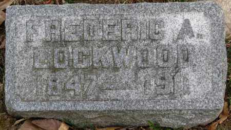 LOCKWOOD, FREDERIC A. - Erie County, Ohio | FREDERIC A. LOCKWOOD - Ohio Gravestone Photos