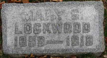 LOCKWOOD, MARY G. - Erie County, Ohio | MARY G. LOCKWOOD - Ohio Gravestone Photos
