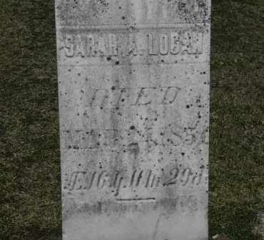 LOGAN, SARAH - Erie County, Ohio | SARAH LOGAN - Ohio Gravestone Photos