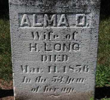 LONG, ALMA D. - Erie County, Ohio | ALMA D. LONG - Ohio Gravestone Photos