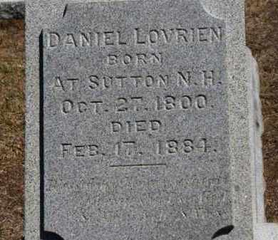 LOVRIEN, DANIEL - Erie County, Ohio | DANIEL LOVRIEN - Ohio Gravestone Photos
