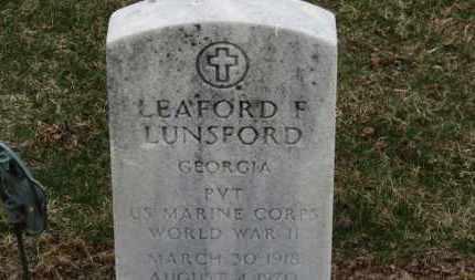 LUNSFORD, LEAFORD F. - Erie County, Ohio   LEAFORD F. LUNSFORD - Ohio Gravestone Photos