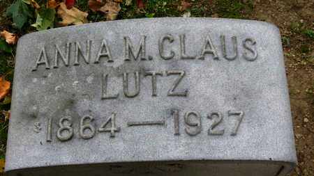 LUTZ, ANNA M. - Erie County, Ohio | ANNA M. LUTZ - Ohio Gravestone Photos