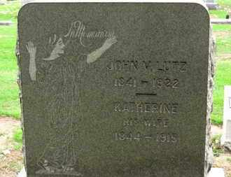 LUTZ, JOHN V. - Erie County, Ohio | JOHN V. LUTZ - Ohio Gravestone Photos