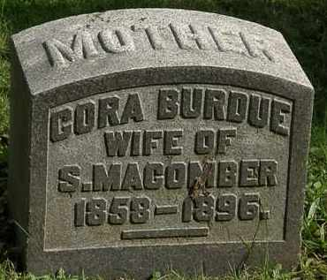 BURDUE MACOMBER, CORA - Erie County, Ohio | CORA BURDUE MACOMBER - Ohio Gravestone Photos