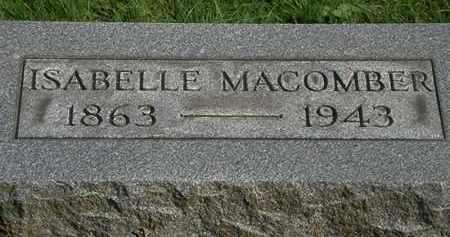 MACOMBER, ISABELLE - Erie County, Ohio | ISABELLE MACOMBER - Ohio Gravestone Photos