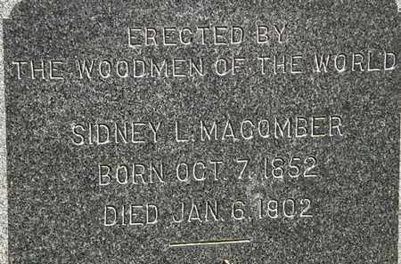 MACOMBER, SIDNEY L. - Erie County, Ohio | SIDNEY L. MACOMBER - Ohio Gravestone Photos