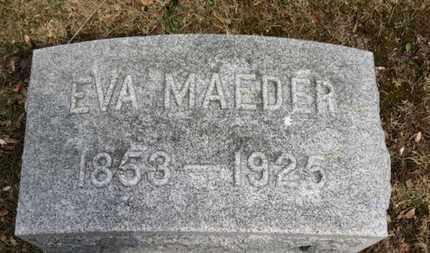 MAEDER, EVA - Erie County, Ohio | EVA MAEDER - Ohio Gravestone Photos