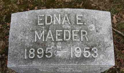MAEDER, EDNA E. - Erie County, Ohio | EDNA E. MAEDER - Ohio Gravestone Photos