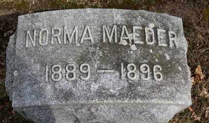 MAEDER, NORMA - Erie County, Ohio | NORMA MAEDER - Ohio Gravestone Photos