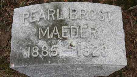MAEDER, PEARL - Erie County, Ohio | PEARL MAEDER - Ohio Gravestone Photos