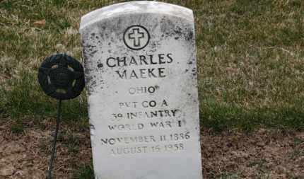 MAEKE, CHARLES - Erie County, Ohio | CHARLES MAEKE - Ohio Gravestone Photos