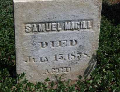 MAGILL, SAMUEL - Erie County, Ohio | SAMUEL MAGILL - Ohio Gravestone Photos