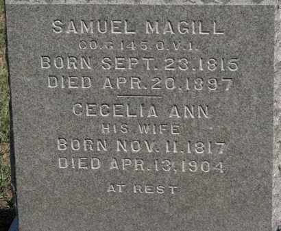 MAGILL, CECELIA ANN - Erie County, Ohio | CECELIA ANN MAGILL - Ohio Gravestone Photos
