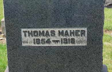 MAHER, THOMAS - Erie County, Ohio | THOMAS MAHER - Ohio Gravestone Photos