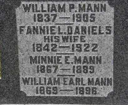 DANIELS MANN, FANNIE L. - Erie County, Ohio | FANNIE L. DANIELS MANN - Ohio Gravestone Photos