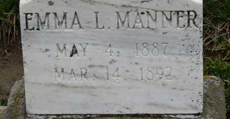 MANNER, EMMA L. - Erie County, Ohio | EMMA L. MANNER - Ohio Gravestone Photos