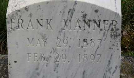 MANNER, FRANK - Erie County, Ohio | FRANK MANNER - Ohio Gravestone Photos