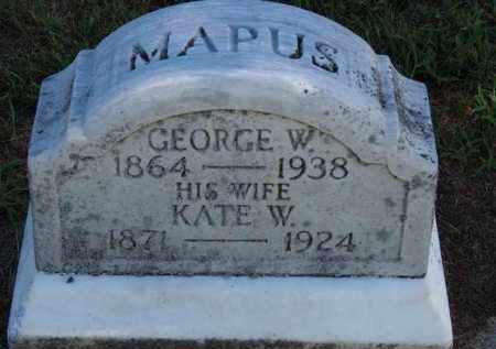MAPUS, KATE W. - Erie County, Ohio | KATE W. MAPUS - Ohio Gravestone Photos