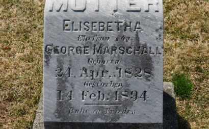 MARSCHALL, ELISEBETH A. - Erie County, Ohio | ELISEBETH A. MARSCHALL - Ohio Gravestone Photos