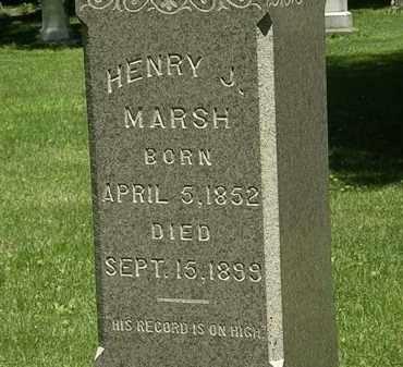 MARSH, HENRY J. - Erie County, Ohio | HENRY J. MARSH - Ohio Gravestone Photos