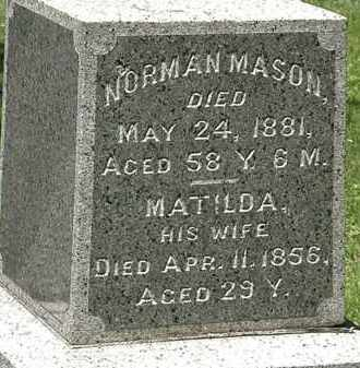 MASON, MATILDA - Erie County, Ohio | MATILDA MASON - Ohio Gravestone Photos