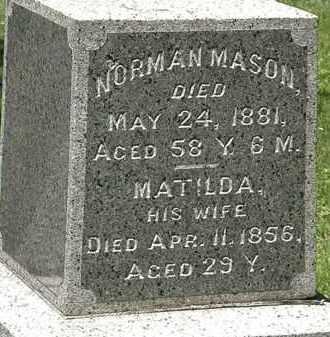 MASON, NORMAN - Erie County, Ohio | NORMAN MASON - Ohio Gravestone Photos